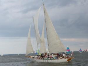 Schooner Woodwind at the Races