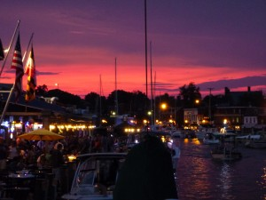 A great view from Woodwind's slip at the Annapolis Waterfront Hotel Dock!