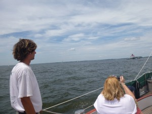 Sailing to Thomas Point Lighthouse on the Schooner Woodwind II
