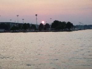 Naval Academy Sunset from Schooner Woodwind