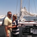 Couple on Wine in the Wind Cruise
