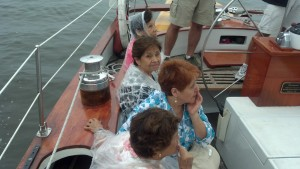 This is their first sail on Woodwind in the Chesapeake Bay.