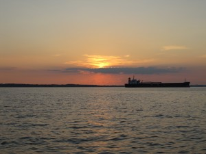 Sailing into the sunset on the Chesapeake Bay
