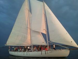 Sunset sailing on the Schooner Woodwind