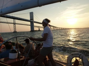 Heading back to Annapolis after a great day on the Chesapeake