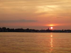 Beautiful sunset over the Annapolis City Skyline