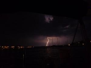 Lightning over Greenbury Point
