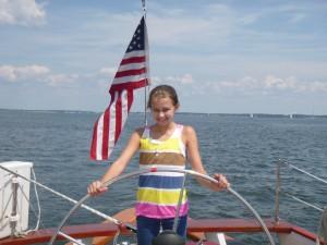 Makenzie sailing the Shooner Woodwind