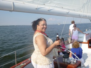 Krista's Bday sail on Schooner Woodwind
