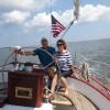 Fran and Joe on Schooner Woodwind