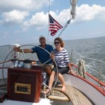 Fran and Joe on Schooner Woodwind