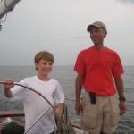 Captain Ken and a young guest sailor