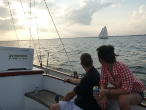 Watching Woodwind Sail into the Sun