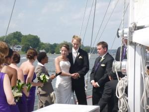 Wedding aboard the Schooner Woodwind II