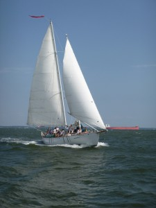 Sailing over 10 knots with just 2 sails up!
