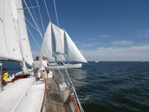 Racing in a Crew Match Race on the Schooner Woodwinds