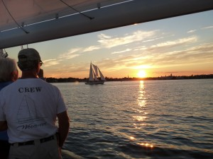Sailing into the Sunset with the Annapolis skyline