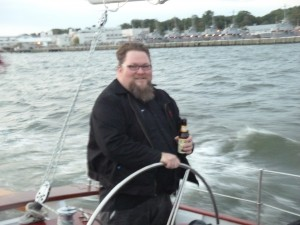 Ben from Flying Dog at the helm