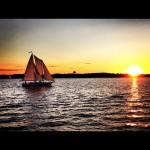 Sunset sail on the schooner