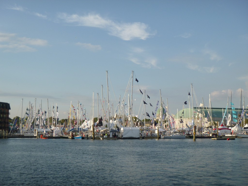 US Sailboat Show in Annapolis obstructs the city skyline!