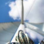 Come sail away into blue skies and waters