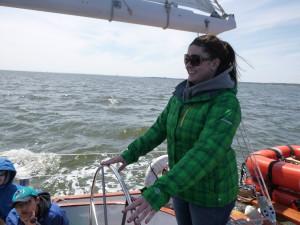 Helming the Schooner Woodwind