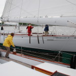Woodwind sailing closely next to the Woodwind II
