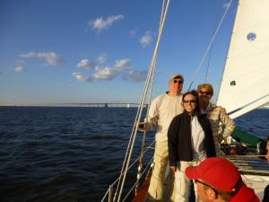 Celebrating 10th Year Anniversary of Wedding on Schooner Woodwind