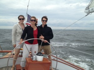 Abraham and Hannah encourage Ann at the helm.