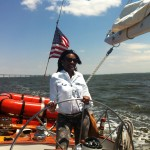 Guest mother steering the helm on Mother's Day and her birthday