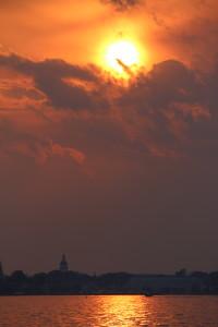 Sunset over the Annapolis City Skyline
