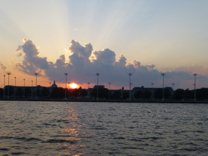Beautiful sunset on USNA