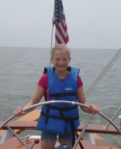 Girl Scouts at the helm of the Woodwind