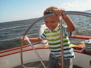 Palmer at the hem during the 4:00 sail!