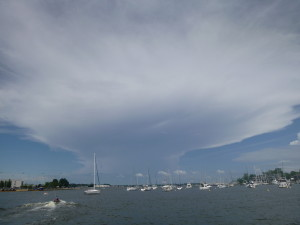 Amazing Thunderhead building over town