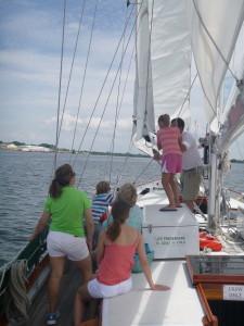 Raising the sails
