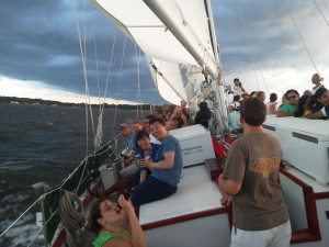 Having fun with lots of breeze, great sailing!