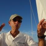 Captain Ken makes a point on the schooner