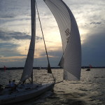 Dusk moving in over the Chesapeake