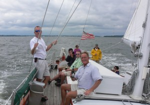 """""""A toast to sailing and beer.  What could be better?"""""""