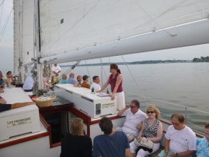 Sherri Johns telling of the Oyster Wars in the Chesapeake Bay