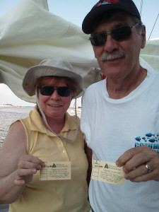 Ron and Rita sporting their frequent sailor card from 1993. This is their second stamp.