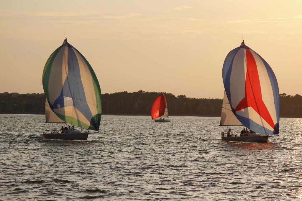 Photo by Charlotte Faracai of the Thursday Night J Boat Races