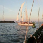 The first schooner with Heavy Seas Crew won the race