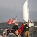 One schooner chasing the other schooner