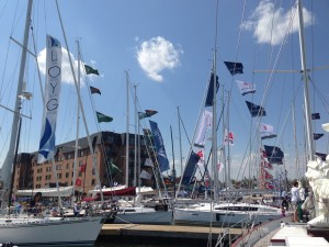 View of the Annapolis Spring Boat Show from Woodwind II