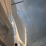 Raising the sails to catch the wind for another day