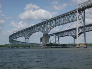 Bay Bridge as seen from the Schooner Woodwind