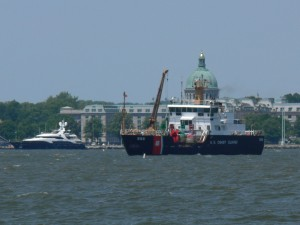 James Rankin is the well equipped USCG buoy tender.