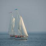 Both schooners racing each other